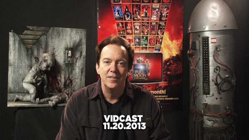 Charles Band Vidcast 11.20.2013 - New Layout, Moonbeam Films and Holiday Plans
